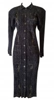 ISSEY MIYAKE Pleats Please Black Denim Dress sz3