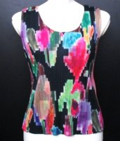 ISSEY MIYAKE Pleats Pleas Digital Flower Top sz3