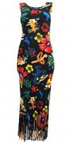 ISSEY MIYAKE Pleats Please Flower Fringe Dress sz4