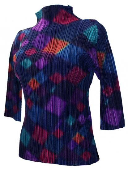 ISSEY MIYAKE Pleats Please Opal Top sz3 - Click Image to Close