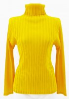 ISSEY MIYAKE Pleats Please Rib Pleats Series Yellow Top sz3