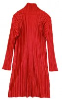 ISSEY MIYAKE Pleats Please Red Turtle neck Dress sz4