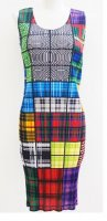 ISSEY MIYAKE Pleats Please Fun Block Dress sz3