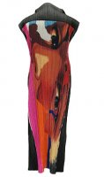 ISSEY MIYAKE Pleats Please Art Face Dress sz3 : LIMITED EDITION