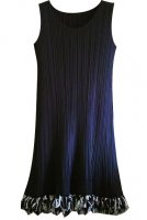 ISSEY MIYAKE Pleats Please BLACK Mix riffle Dress sz3