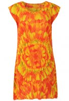 ISSEY MIYAKE Pleats Please SUNSHINE Flower Dress : sz3