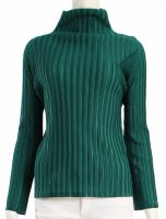 ISSEY MIYAKE Pleats Please Rib Pleats Series Green Top sz3