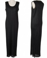 ISSEY MIYAKE Pleats Please B_Black Long Dress sz2