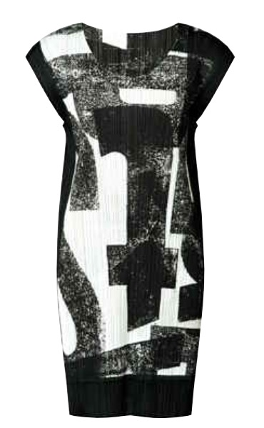 SALE 2014 Latest Series ISSEY MIYAKE Pleats Please Typography Series Dress Sz3: NEW WITH TAGS