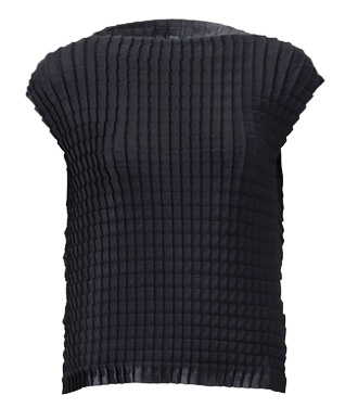 SALE 2014 Latest Series ISSEY MIYAKE me BACK SATIN PLEATS Thicker Top sz Free : NEW WITH TAGS