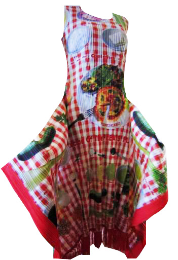 ISSEY MIYAKE Pleats Please Limited Edition Pizza Dress sz3