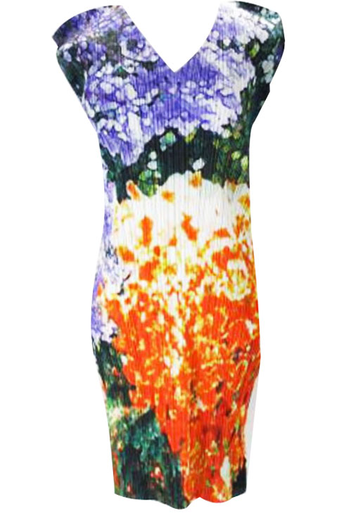 ISSEY MIYAKE Pleats Please Flower Petal S_Dress sz3