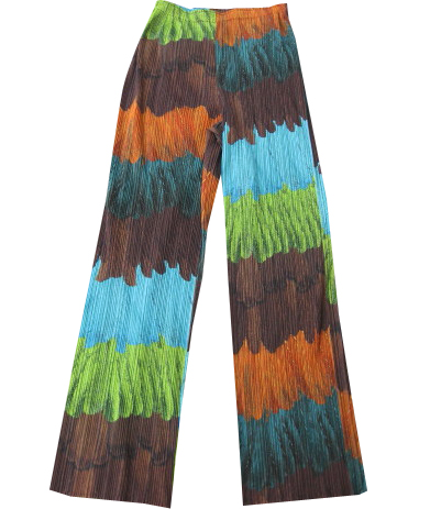 ISSEY MIYAKE Pleats Please Forest Pants sz3